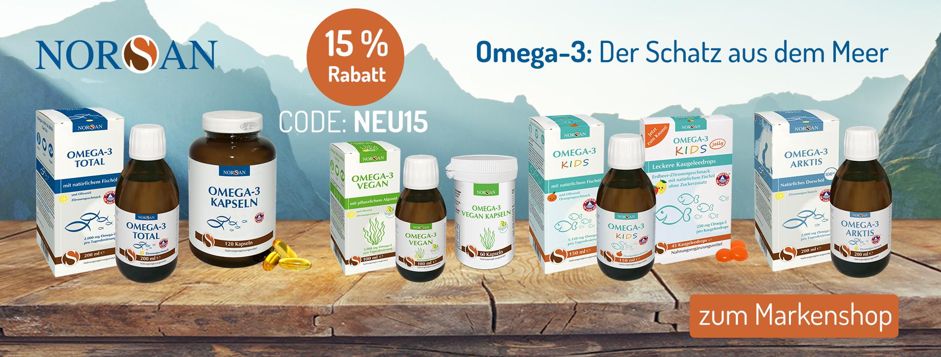 Empfohlen von Dr. med. Volker Schmiedel: Omega-3 Öle von NORSAN
