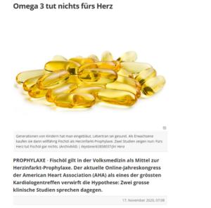 Omega-3 tut nichts fürs Herz